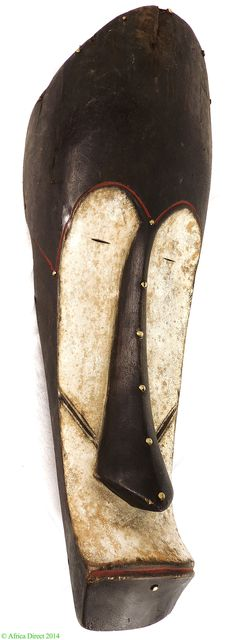 Fang Mask Ngil Society Elongated Face Gabon Africa - Fang - African Masks
