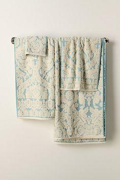 Perpetual Blooms Towels #anthropologie