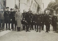Heydrich, center and Heinrich Müller, first row on the right, in Italy