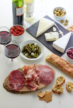 """Summertime Cheese & Charcuterie Spread (""""For the cheese we have brie, blue, and asiago. ... In the recipe box below I have included the exact recipe for the tomatoes and strawberries, ..."""") #lightdinner #picnics"""