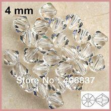 Livraison gratuite! 720 pcs/lote, Chinoise Top qualité 4 mm Crystal Clear perles toupie cristal(China (Mainland))
