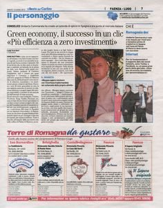Umberto Cammarata, Conselice, Imola, Ravenna, Italia, energia rinnovabile, green economy,  efficienza energética