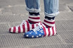 Eeeww!  They made the flag look like clown shoes.  That just seems WRONG, not patriotic.
