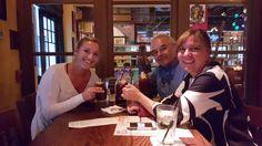 enjoying house made sangria at Cafe Tu Tu Tango in Orlando