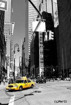 Foto / Poster: New York Yellow Cab by Marli-7 via DaWanda