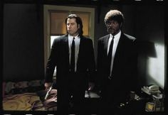 Pulp Fiction Movie Poster Travola Jackson Suits 24in x36 in