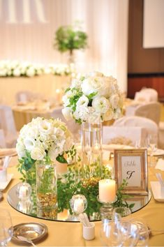25 Ideas For Wedding Flowers Greenery Green Candle Centerpieces, Wedding Centerpieces, Wedding Table, Wedding Bouquets, Wedding Flowers, Wedding Decorations, Table Decorations, Centrepieces, Centerpiece Ideas