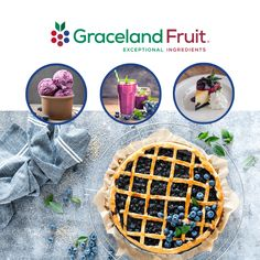 It's National Blueberry Pie Day! FUNT FACT: Michigan ranks third in growing blueberries, producing an average of 92 million pounds with more than 30 different varieties! That's a lot of blueberry pie, but they're also great in some many other things! Growing Blueberries, Dried Blueberries, Blueberry, Michigan, Third, Pie, Fruit, Torte, Berry