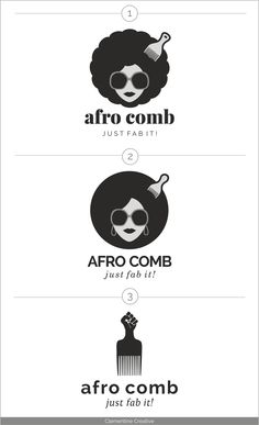 New Work: Afro Comb Logo Design