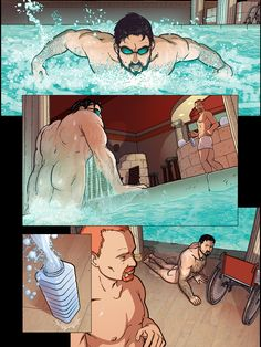 "CLICK HERE TO PURCHASE: http://rbn.co/nightlife4  NIGHTLIFE #4 is an all-new, first-to-digital comic release written and edited by Dale Lazarov, drawn by Bastian Jonsson and colored by Yann Duminil. In ""Steam"", Zeus find himself a calmly detached tourist in a Greek bathhouse until Heph rises from the pool like a marvel of grace and masculinity. That Heph is a paraplegic does not put a damper on their steamy, passionate encounter as he is both ready and able…"