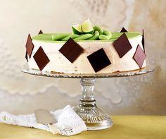 Mojito-Torte: Eine fruchtige Limettentorte, die auch problemlos mit laktosefreien Milchprodukten zubereitet werden kann. #Torte #Backen #Dessert