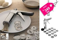 16 Piece kitchen press made of Stainless Steel...Rs.349 instead of Rs.699 for a Amiraj Silver Stainless Steel Kitchen Press Sixteen Pieces