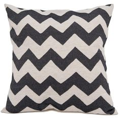 Tori Murphy 60cm Chevy Black & Linen Cushion (7.775 RUB) ❤ liked on Polyvore featuring home, home decor, throw pillows, pillows, black toss pillows, black throw pillows, chevron throw pillows, black accent pillows and contemporary throw pillows
