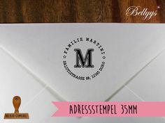 Adressstempel - Adressstempel - ein Designerstück von Bellyys bei DaWanda