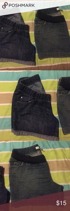 Two maternity shorts Liz Lange maternity size Large.                              Old navy maternity size 14 , both fits size large(maternity)wore twice Liz Lange Shorts Jean Shorts