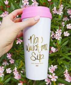 Now Watch Me Sip Travel Mug (Ashley Brooke Designs) Cruise Travel, Solo Travel, Travel Coffee Cup, Travel Mugs, Ashley Brooke Designs, Now Watch, Insulated Cups, Coffee Shop Design, Coffee Roasting