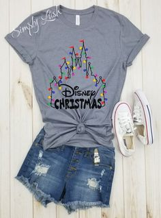 Disney Christmas Castle lights - tshirt, there's no place like home for the holidays, mickey's very merry christmas party, disney holidays. Disney Christmas Castle lights tshirt there's no place Disney Christmas Shirts, Disneyland Christmas, Disney Holidays, Christmas In Disney World, Disney Vacation Shirts, Disney Tees, Walt Disney, Disney Family, Disney World Shirts Family