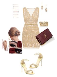 Candibychastity.com by artemisingemini on Polyvore featuring polyvore, fashion, style, Nicole Miller, René Caovilla, Yves Saint Laurent, Chloe + Isabel and clothing