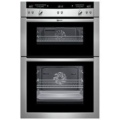 Buy Neff U16E74N3GB Double Electric Oven, Stainless Steel Online at johnlewis.com