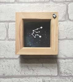 Zodiac constellation framed papercut art, Aquarius, zodiac gift