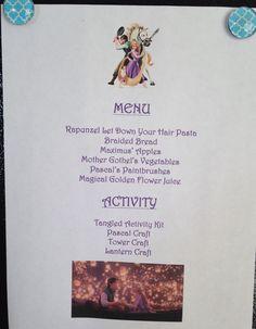 Tangled Dinner Menu - Tangled Movie Night - Disney Movie Night - Family Movie Night
