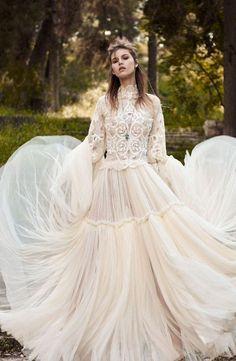 Featured Dress: Costarellos; Wedding dress idea.
