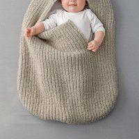 Un nid d'ange en laine tricotée - Marie Claire Idées