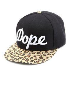 Dope Foiled Leopard Baseball Hat: Charlotte Russe