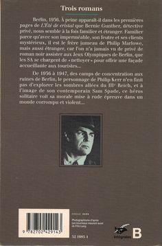 Les Intégrales du Masque - Philip Kerr - Volume 1 - Verso - Novembre 1998