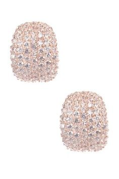 Blush diamond earrings