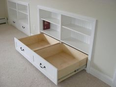 Knee Wall Storage Drawers | Home Design