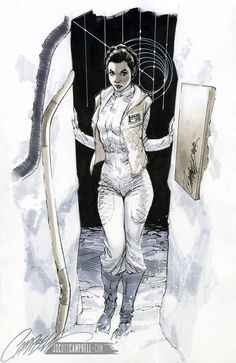 Leia by J. Scott Campbell