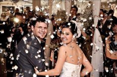 Chuva de prata no casamento de Ana Raquel e Diego. Foto: Camila Resta.