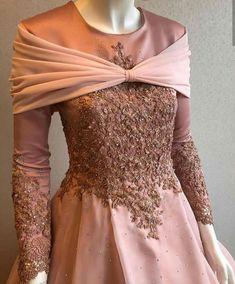 It looks like Aurora's hecking dress. Dress Brukat, Kebaya Dress, Dress Pesta, Dress Outfits, Kebaya Hijab, Batik Fashion, Abaya Fashion, Muslim Fashion, Fashion Dresses