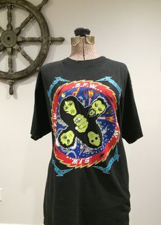 7ba4ab125 Vintage Metallica Shirt Oversized Black Tee by RetroRevivalClub Concert Tees,  Retro Clothing, Band Tees