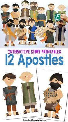 12 Apostles {New Testament Interactive Bible Storytelling Printables}