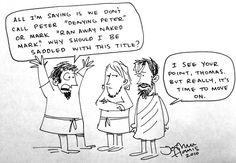"""funny cartoon about """"Doubting Thomas"""""""