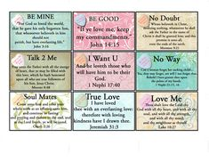 FREE: Valentines conversation hearts attached to scripture cards reminding us of God's love at Valentines Day