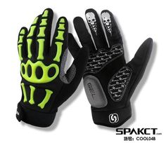 SPAKCT Cycling Full Finger Gloves Bike Bicycle Winter Gloves Skeleton Shockproof Antiskid Gloves Cycling Equipment MOTO Guantes