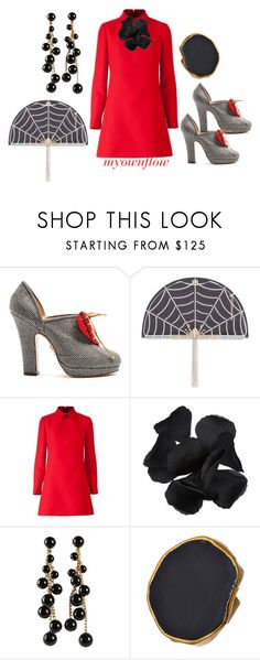 """""""KILLIN' IT"""" by myownflow ❤ liked on Polyvore featuring Charlotte Olympia, Esme Vie, Miriam Haskell and Charlene K"""