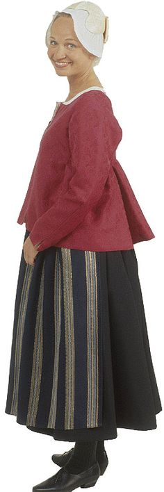 Traditional Finnish folk costume, a woman´s dress representing the region of Rantalakeus including several villages. Folk Clothing, Folk Costume, Asian Style, Traditional Dresses, Vintage Ladies, Clothes For Women, How To Wear, Folklore, Diversity