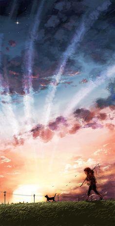 #anime manga #landscape.  See more #cartoon pics at www.freecomputerdesktopwallpaper.com/humorwallpaper.shtml