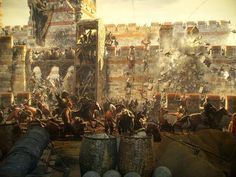 The Siege of Constantinople, 1453 Military Art, Military History, Siege Of Constantinople, Friedrich Ii, Templer, Ancient Mysteries, Historical Art, Knights Templar, Ottoman Empire