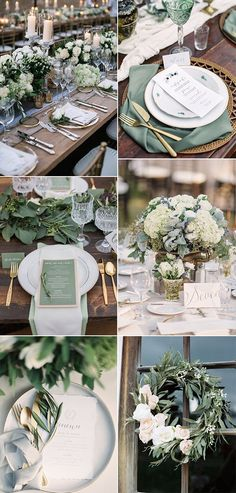 30 Sage Green Wedding Ideas for 2019 Trends Page 2 of 2 Oh Best Day . - 30 Sage Green Wedding Ideas for 2019 Trends Page 2 of 2 Oh Best Day Ever - Green Wedding Decorations, Wedding Themes, Wedding Centerpieces, Wedding Designs, Wedding Parties, Green Weddings, Green Decoration, Centerpiece Ideas, Green Wedding Arrangements