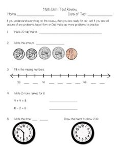 everyday math observation template