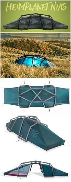 Heimplanet Nias Inflatable Geodesic 6-Person 3-Season Tent inflates in less than one minute using any standard pump. #affiliate