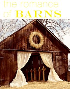 The romance of barns...