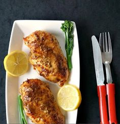Baked Honey Mustard Chicken With a Touch Of Lemon   Special Cuisine Recipe
