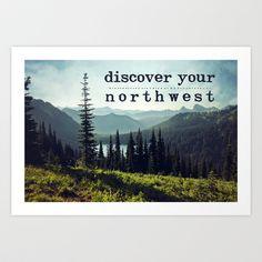 #print #wallart #homedecor #pacificnorthwest #pnw #mountains #Washington #typography #landscape