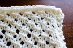 Diagonal Cluster Lace #knit #knitting